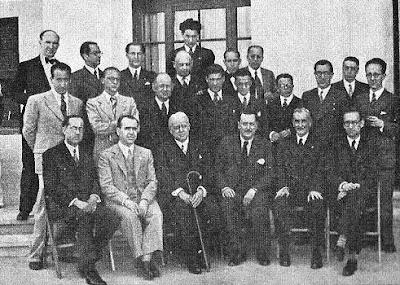 Participantes y organizadores del I Torneo Internacional de Ajedrez de Sitges 1934