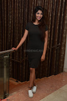 Priya Vadlamani super cute in tight brown dress at Stone Media Films production No 1 movie announcement 043.jpg