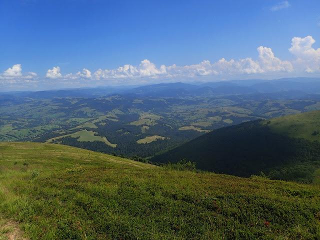 Widok z Borżawy (ukraińskie Karpaty)