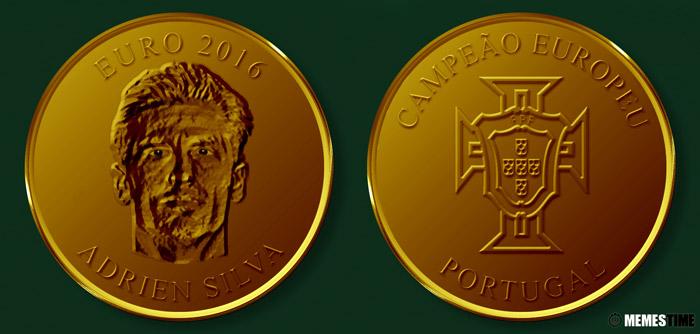Meme com Medalha Comemorativa da Conquista do Euro 2016 pela Seleção Nacional de Portugal – Adrien Silva