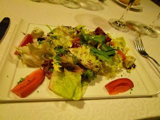 Ensalada con queso gorgonzolla