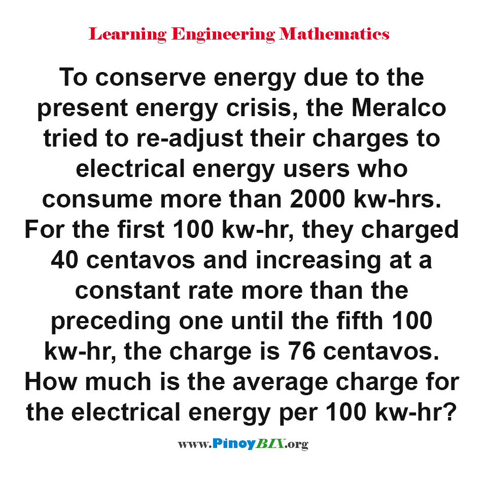 How much is the average charge for the electrical energy per 100 kw-hr?