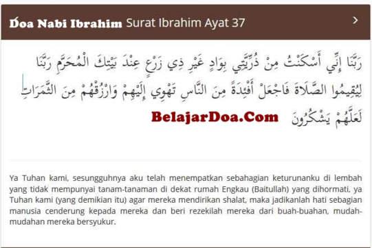 Lafal Bacaan Doa Nabi Ibrahim Untuk Mekkah Saat Meninggalkan Siti Hajar Dan Ismail Di Lembah tandus