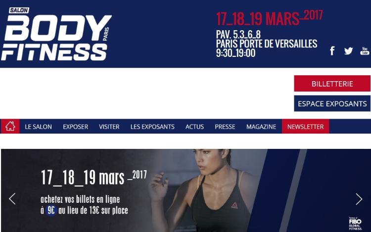 salon Body Fitness 2017 du 17 au 19 mars