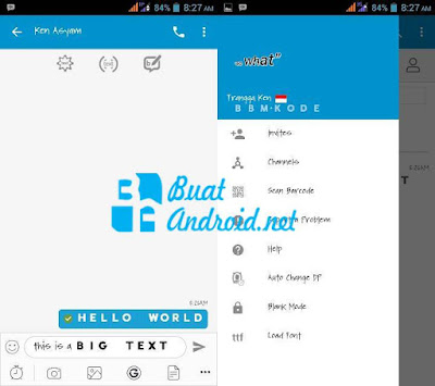 Download BBM Mod Official v3.3.6.51 Apk With Big Text