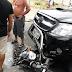 Colisão carro x moto na Av. Deodoro da Fonseca com rua João Pessoa