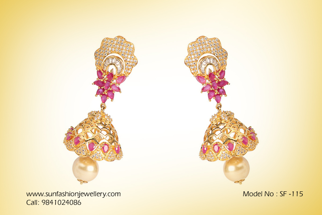 Fashion jewellery in chennai Earrings | Sun fashion jewellery
