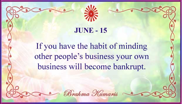 Thought For The Day June 15