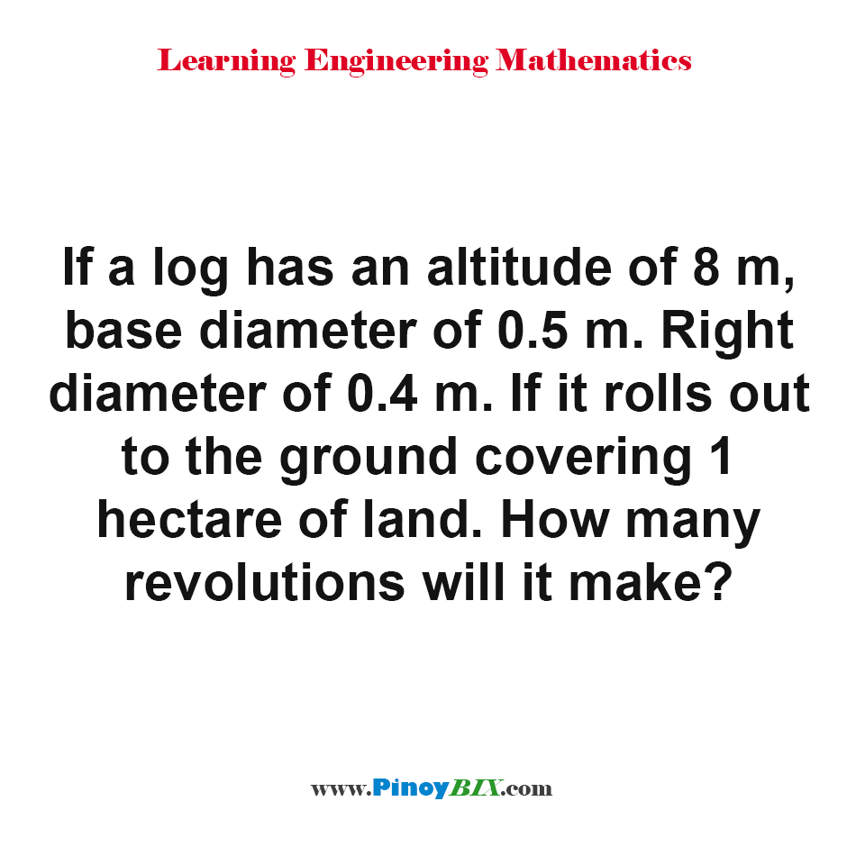 How many revolutions will a log make?