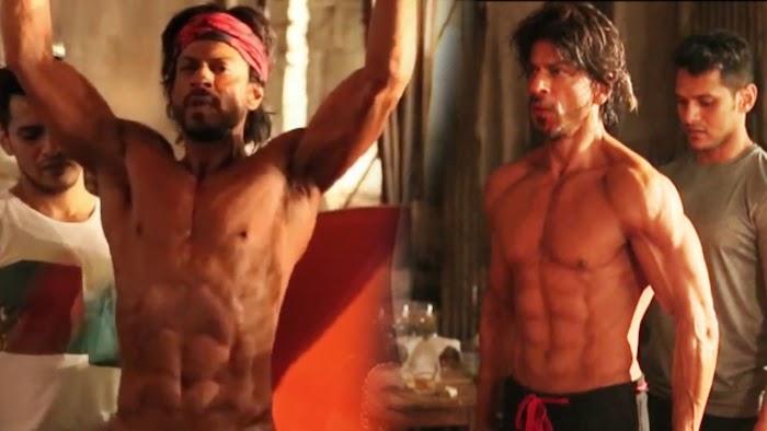 Shahrukh Khan Hottest Six Pack Photos-Sexy abs show