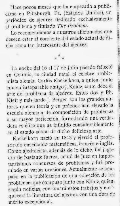 Recorte revista Stadium nº 73 - 30 Agosto de 1914