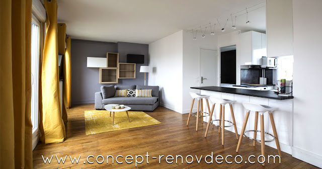 Transformation studio en appartement