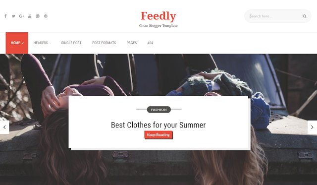Feedly new one  blogger template
