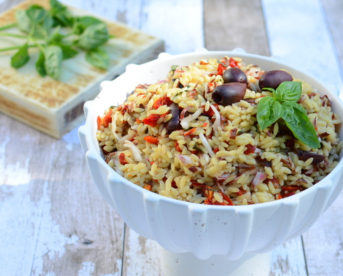 Summer Orzo With Radicchio, another easy, adaptable summer salad ♥ AVeggieVenture.com. Great for Meal Prep. Potluck Favorite. Vegan.