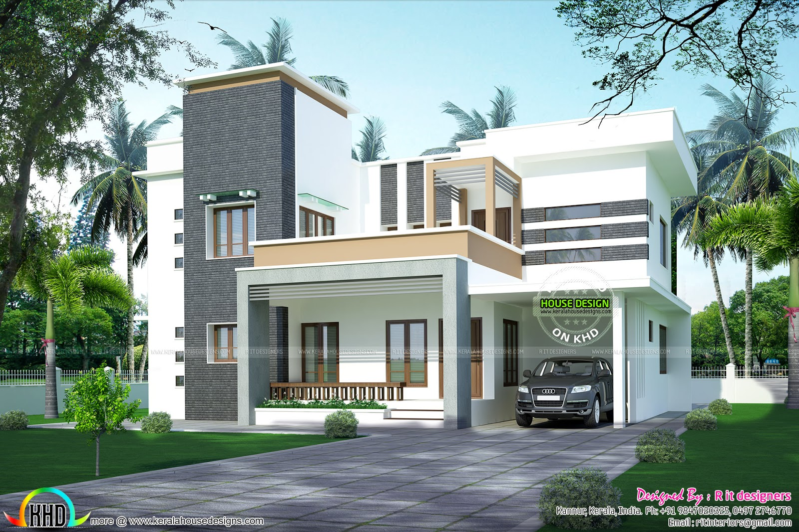 2373 sq ft modern home plan kerala home design and floor for Innovative home plans