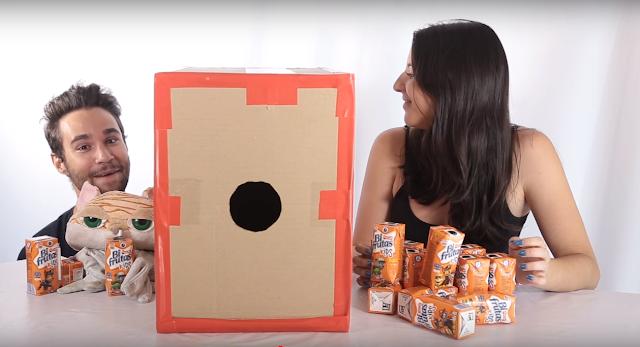 canon, casero, caja, carton, juego, juguete
