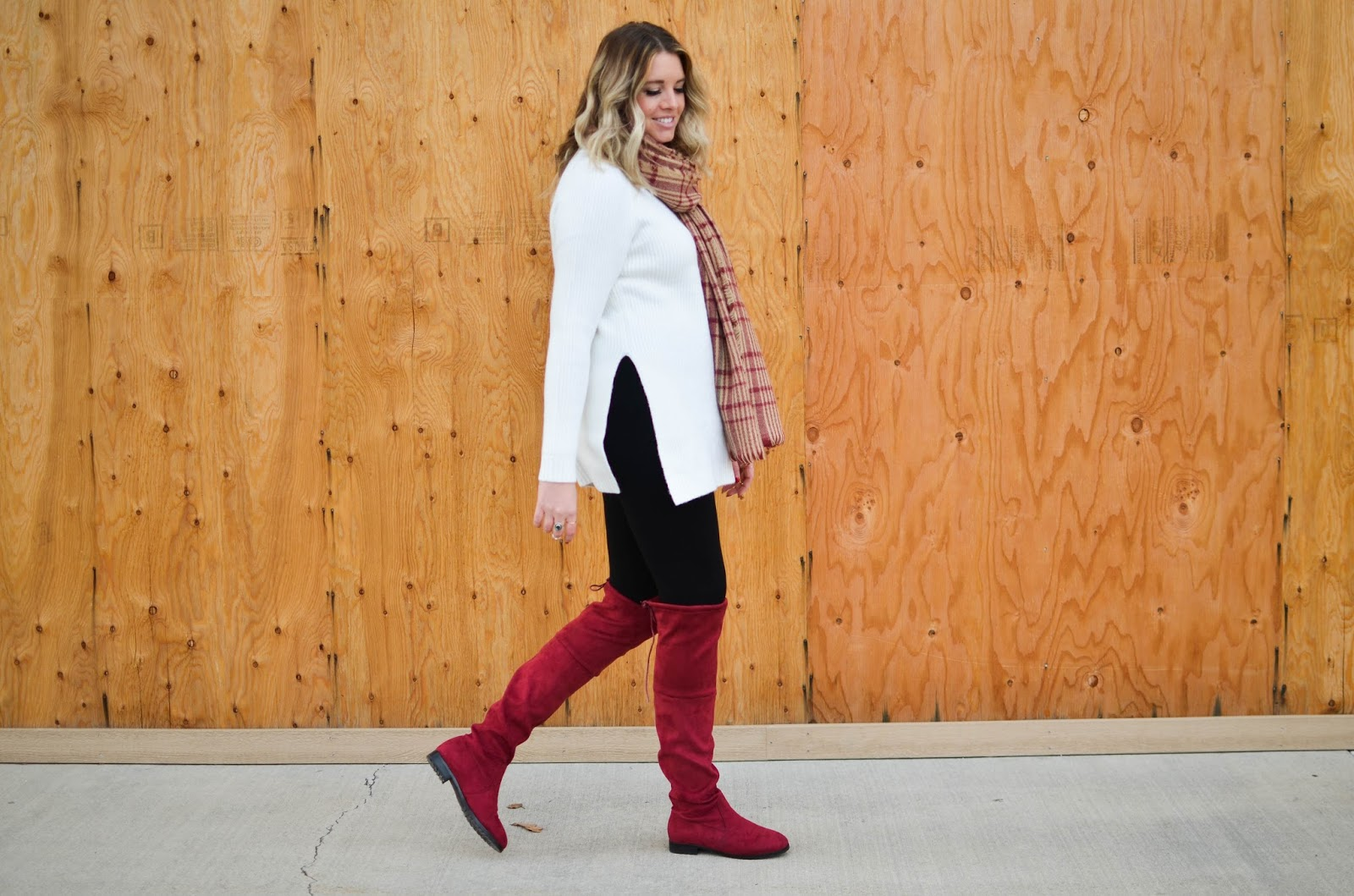 Winter Outfit, Utah Fashion Blogger, Side Slit Sweater