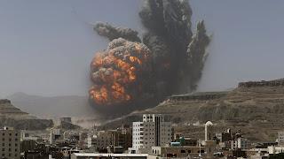 Gudang Penyimpanan Drone Syiah Houthi dan Iran Diserang Koalisi Saudi