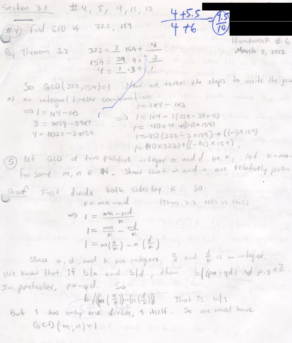 My old math homework from UC Berkeley : Math 151 hw6