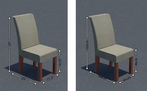 ukuran standar kursi makan