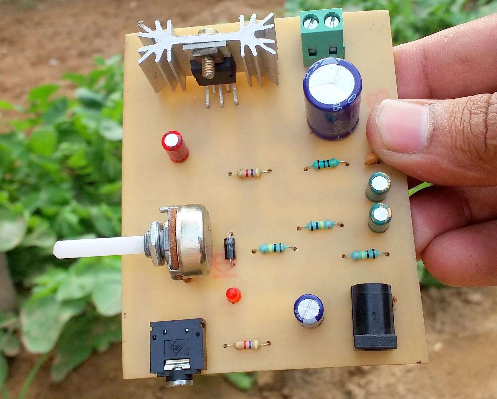 Electronic Circuits Poweramplifiergenneralpurposebyictda2030 Pcb