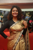 Aditi Myakal look super cute in saree at Mirchi Music Awards South 2017 ~  Exclusive Celebrities Galleries 028.JPG