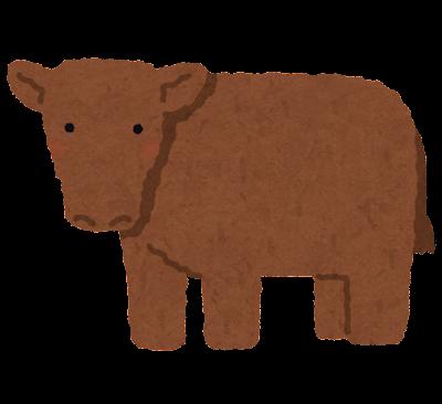 テキサストルネードのイラスト(牛)