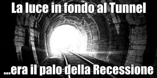 Economia Italiana: in fondo al tunnel era il palo della Recessione