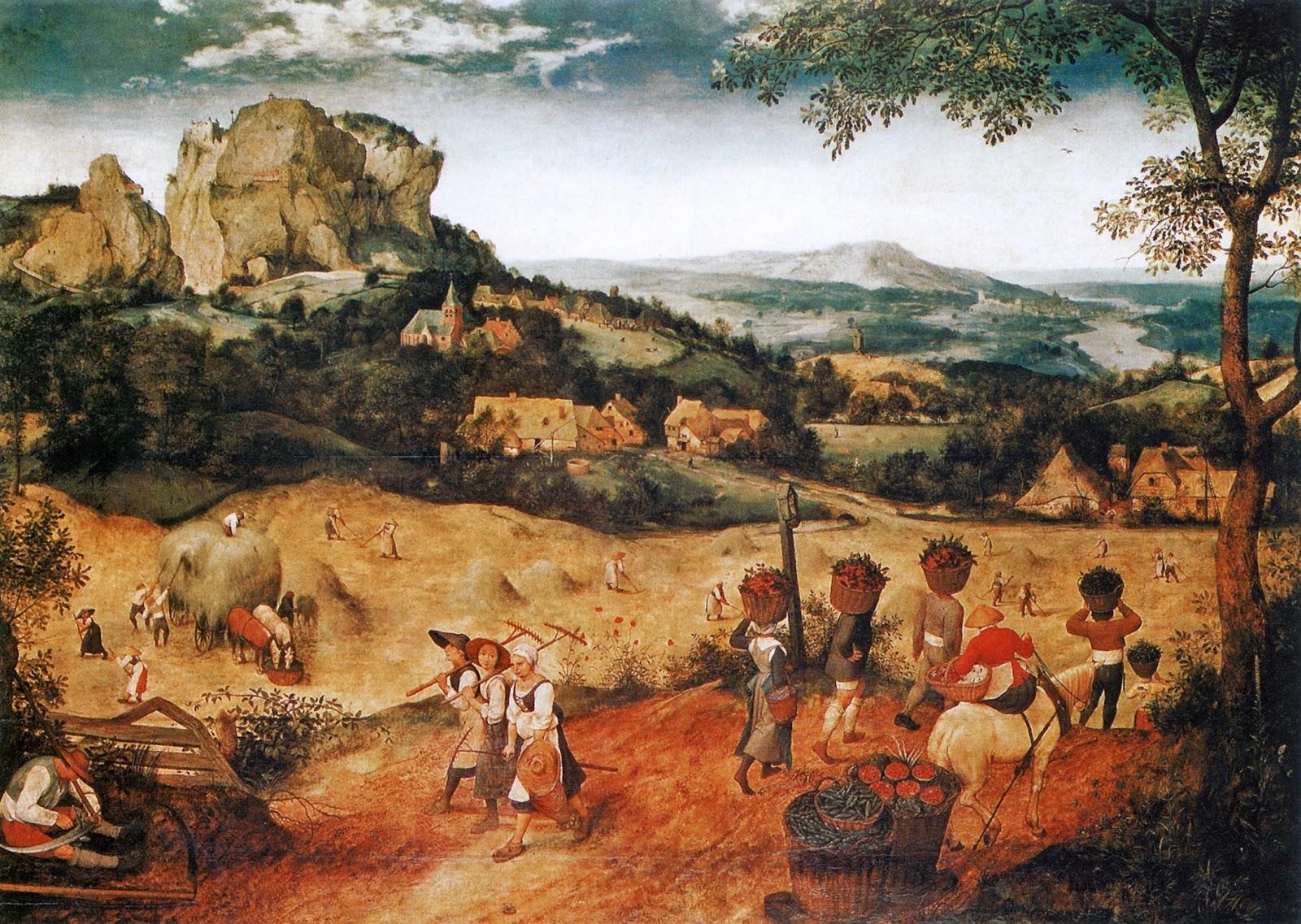 ピーテル・ブリューゲルの干し草の収穫(連作月暦画の六月と七月)