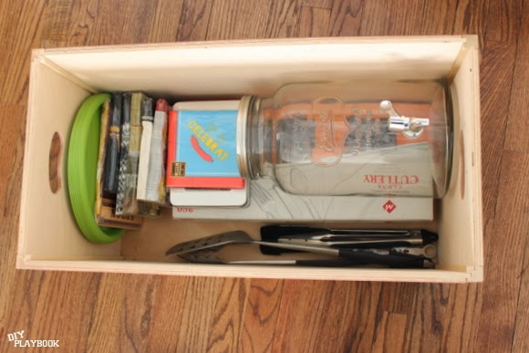 patio box: How to Organize Grill Supplies | DIY Playbook