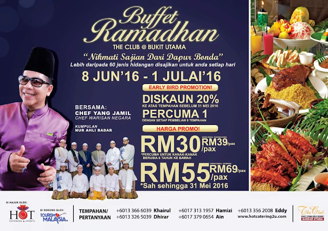 Buffet Ramadhan at The Club @ Bukit Utama with Malaysian Heritage Chef - Chef Yang Jamil, Chef Yang Jamil, The Club @ Bukit Utama, Hot Catering, The Malay Wedding Exclusive,