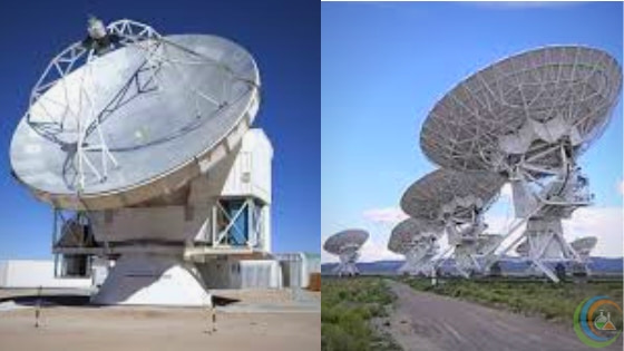 EHT links multiple radio telescopes around the world