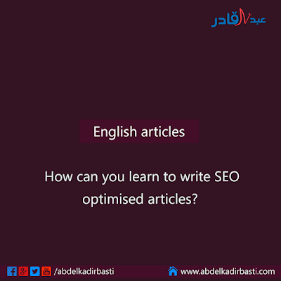 How can you learn to write SEO optimised articles
