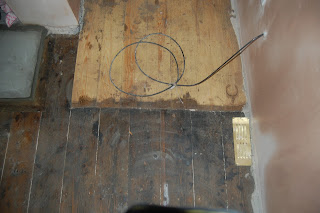 Staining floorboards
