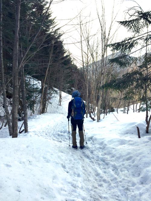 赤岳鉱泉から上はほぼ雪道