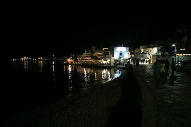Mykonos town di notte-Mykonos