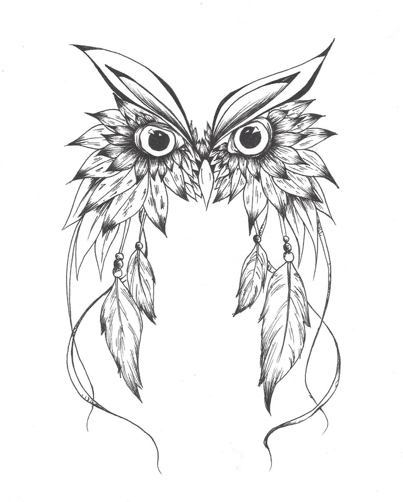 Owl dreamcatcher drawing - photo#33