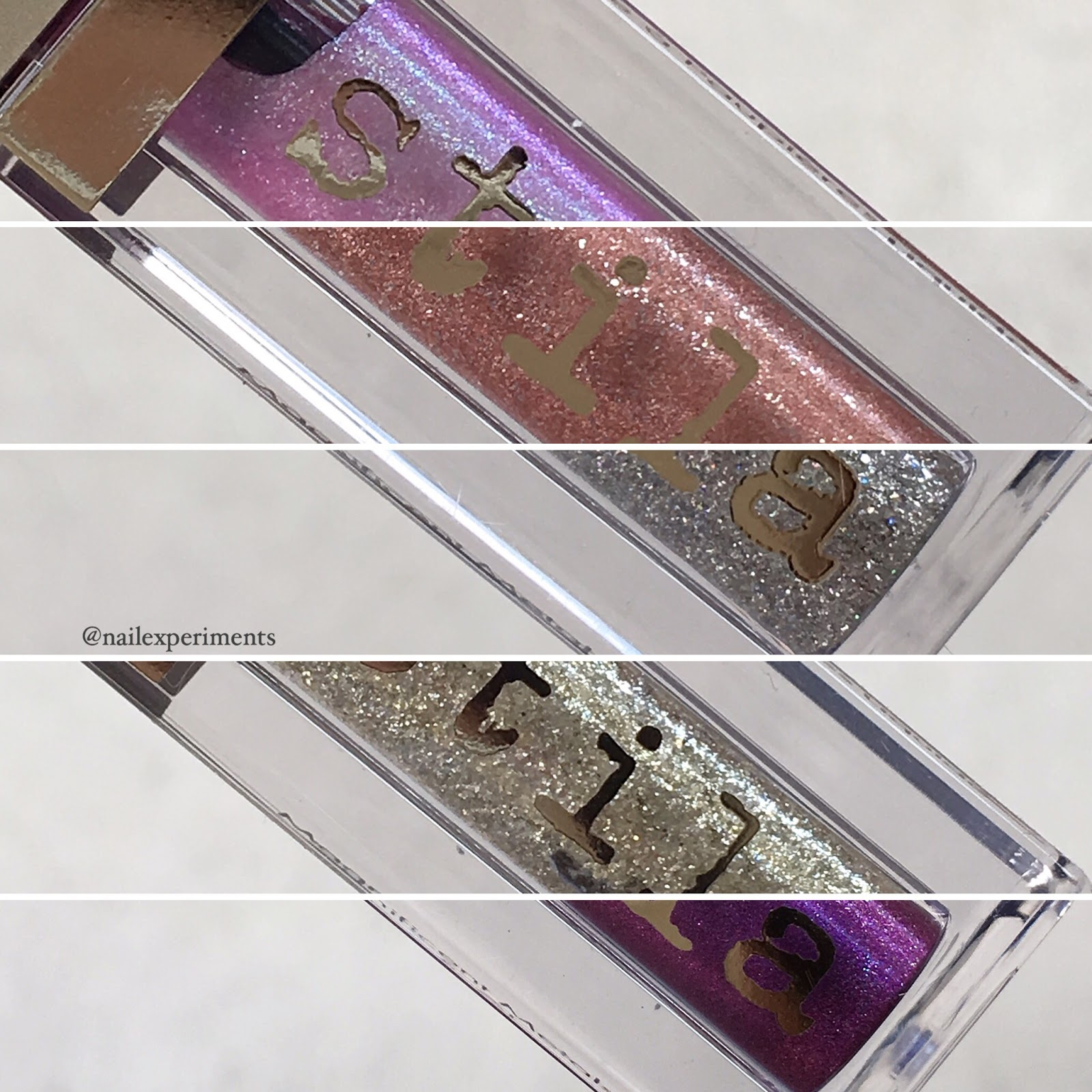 Stila magnificent glitter and glow liquid eye shadows review