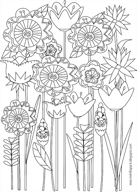 Sly image in flower printable coloring pages