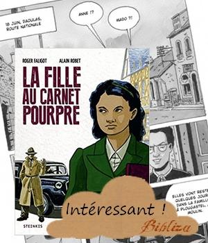 La fille au carnet pourpre Faligot Robet Anne Corre Plougastel Daoulas avis critique chronique salon du livre Landerneau