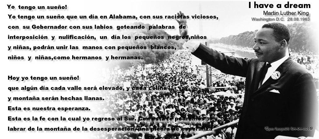 Tag Martin Luther King Discurso Yo Tengo Un Sueno Resumen