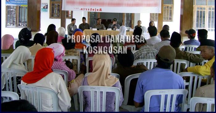 Contoh Pembuatan Proposal Kegiatan Dana Desa Terbaru Kosngosan