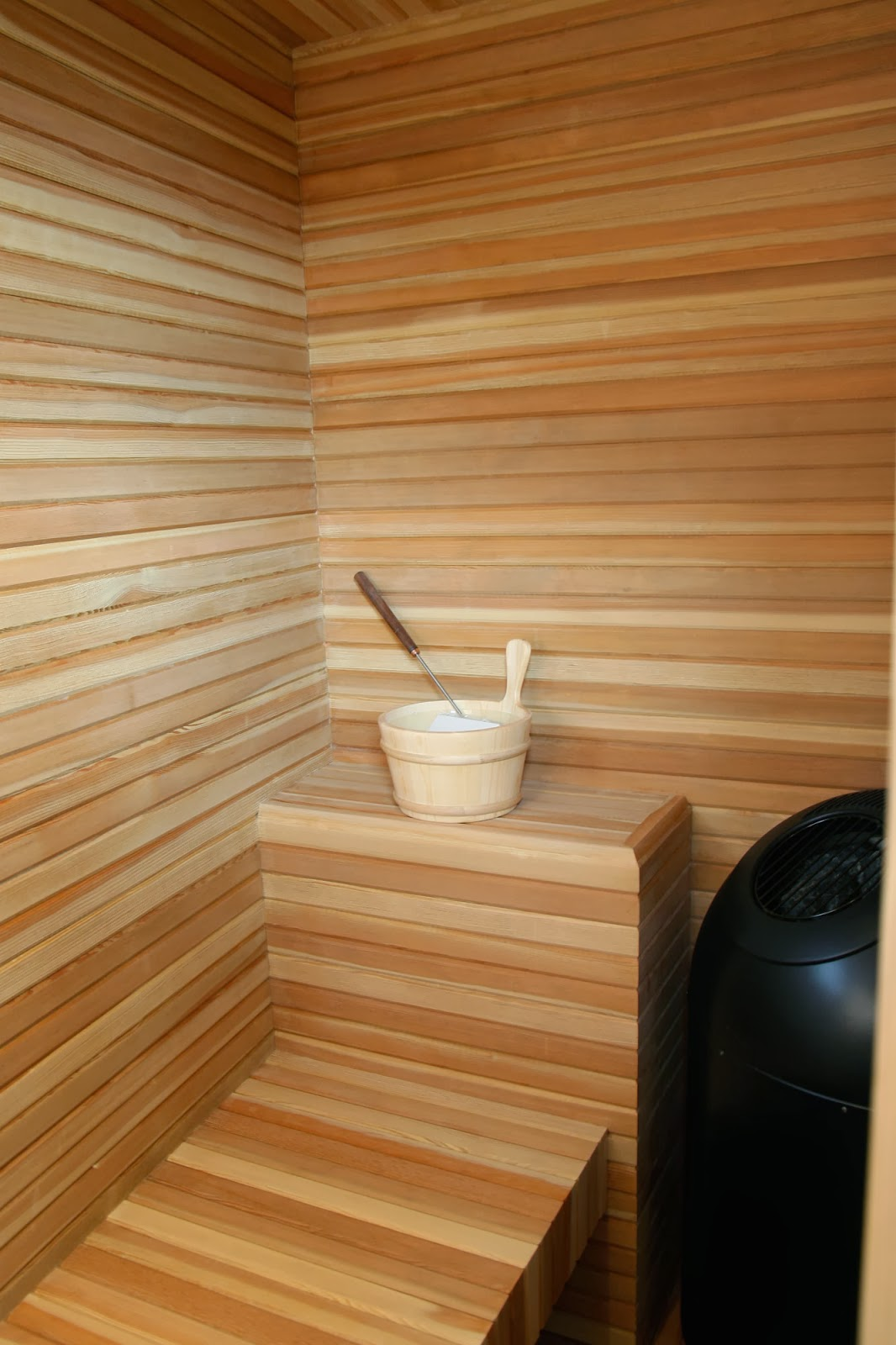wood sauna room design