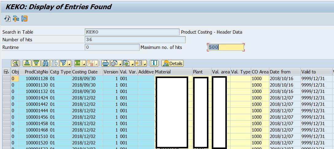SAP FICO Corner: SAP Product Costing, Cost Estimates Tables
