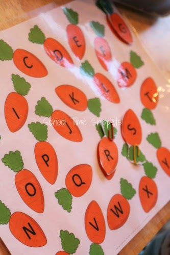 ABC Carrot Matching Activity