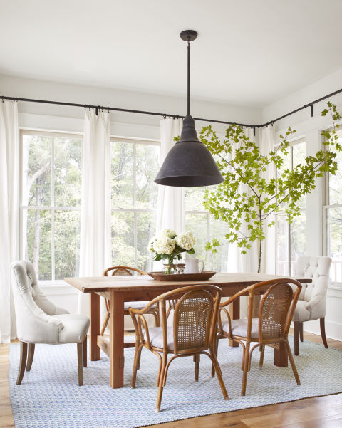 Beautiful modern farmhouse style dining room and inspiration on Hello Lovely Studio