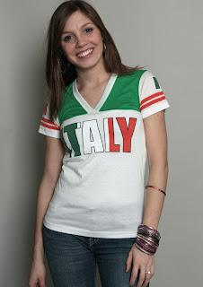 Italy V-neck tee shirt