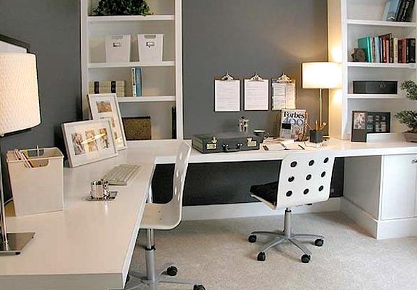 11 Desain Model Meja Kerja Minimalis Untuk Rumah dan Kantor Berukuran Kecil dalam bentuk Letter 'L'