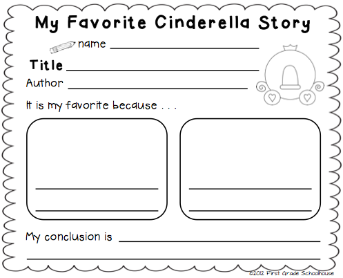 First Grade Schoolhouse Cinderella And The Common Core Standards