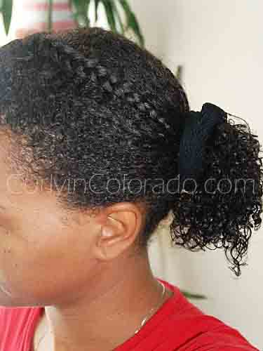 How I Style My Heat Damaged Hair For A Wash N Go Curly In Colorado